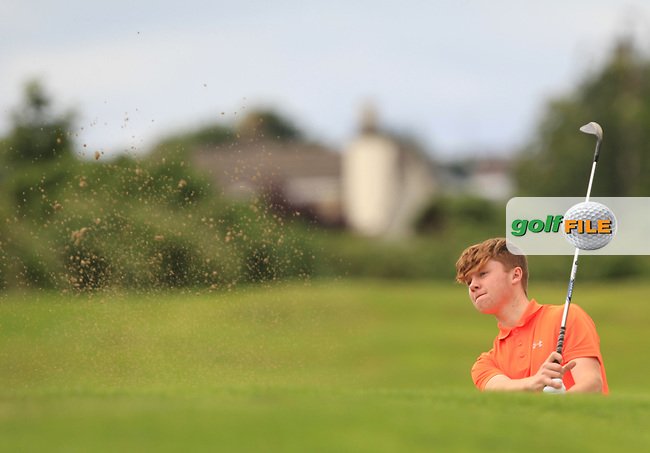 A.J. McCabe (Malahide) on the 17th during R1 of the 2016 Connacht U18 Boys Open, played at Galway Golf Club, Galway, Galway, Ireland. 05/07/2016. <br /> Picture: Thos Caffrey | Golffile<br /> <br /> All photos usage must carry mandatory copyright credit   (&copy; Golffile | Thos Caffrey)