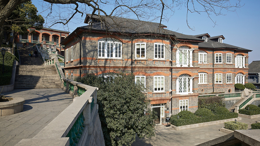 Both Properties Belonged To The Southern Baptist Convention And Are Just Below HBMC In Zhenjiang (Chinkiang).  The Consulate Is Just Visible To The Rear.