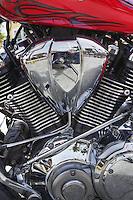 Motorcycle details, Catalina Island, California