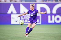Orlando, Florida - Saturday, April 23, 2016: Orlando Pride midfielder Becky Edwards (14) prior to an NWSL match between Orlando Pride and Houston Dash at the Orlando Citrus Bowl.