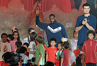 Aug 21, 2008, Beijing, China, LeBron James of the United States and Yao Ming of China attend a Coca Cola event during the Beijing 2008 Olympic Games.<br /> Olimpiadi Pechino 2008<br /> Foto Cspa/Insidefoto