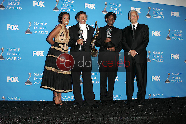 Kerry Washington with The Neville Brothers and Julian Bond