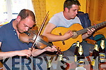 Traditional Irish music live at the Kilgarvan Music Festival .L-R Jeremy Spencer and Sean Leahy in Rogers bar in Kilgarvan.