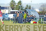 Kerry Management team at the semi final of the McGrath Cup at John Mitchells Grounds on Sunday.