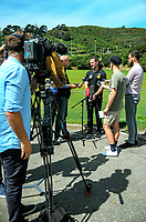 Wellington Phoenix general manager David Dome speaks to news media at a presser to announce resignation of coach Darije Kalezic. Martin Luckie Park Phoenix training ground in Wellington, New Zealand on Thursday, 1 March 2018. Photo: Dave Lintott / lintottphoto.co.nz