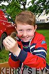 Jack Doyle from Traleeat the Ardfert Poultry Sale Fair on the Green Ardfert on Sunday