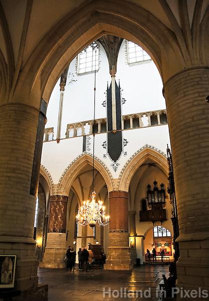 Nederland Haarlem  2016. De Sint Bavokerk op de Grote Markt.  Foto Berlinda van Dam / Hollandse Hoogte