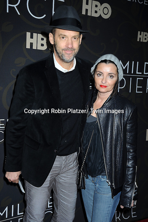 "Anthony Edwards and wife  attending The New York Premiere of  the HBO Miniseries ""Mildred Pierce"" on March 21, 2011 at The Ziegfeld Theatre in New York City.  The movie stars Kate Winslet, Guy Pearce,  Evan Rachel Wood, Melissa Leo, Mare Winningham and James LeGros."