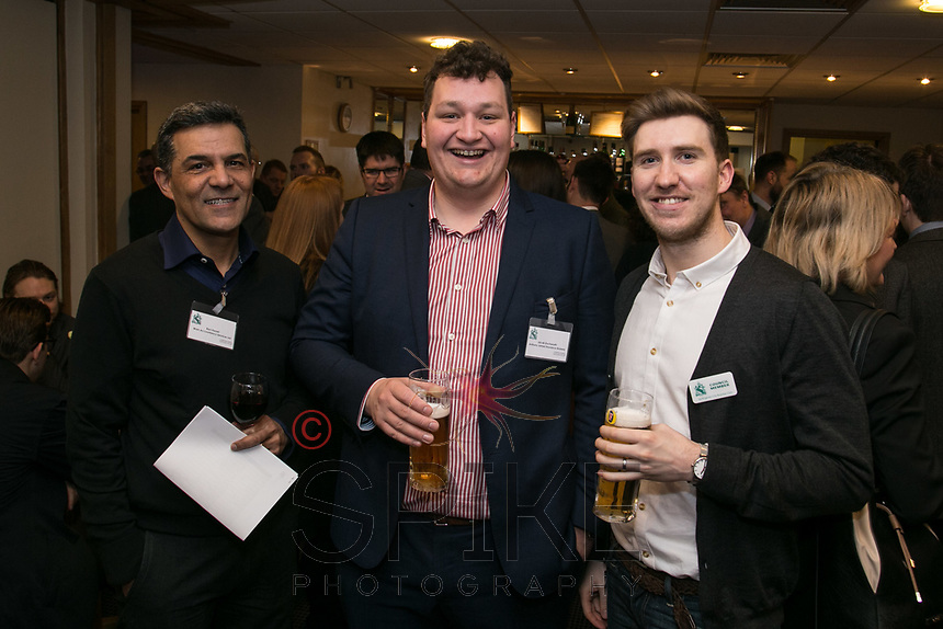 Ravi Kesari of Wren Accountancy Services, Jacob Duckworth of Anthony James Insurance Brokers and Ross Davies of Strafe Creative
