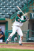 Fort Wayne TinCaps Xavier Edwards (9) at bat during a Midwest League game against the Kane County Cougars at Parkview Field on May 1, 2019 in Fort Wayne, Indiana. Fort Wayne defeated Kane County 10-4. (Zachary Lucy/Four Seam Images)