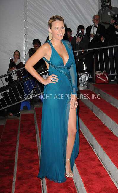 WWW.ACEPIXS.COM . . . . . ....May 4 2009, New York City....Blake Lively arriving at 'The Model as Muse: Embodying Fashion' Costume Institute Gala at The Metropolitan Museum of Art on May 4, 2009 in New York City.....Please byline: KRISTIN CALLAHAN - ACEPIXS.COM.. . . . . . ..Ace Pictures, Inc:  ..tel: (212) 243 8787 or (646) 769 0430..e-mail: info@acepixs.com..web: http://www.acepixs.com