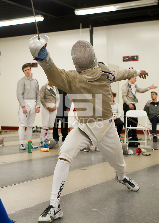Stanford, CA - January 11, 2014.  Mens and Womens Western Invitational Fencing at Stanford University Arrillaga Center for Sports & Recreation.