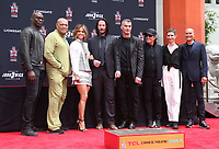 14 May 2019 - Hollywood, California - Lance Reddick, Laurence Fishburne, Halle Berry, Keanu Reeves, Ian McShane, Asia Kate Dillon, Mark Dacascos. The Keanu Reeves Hand And Foot Print Ceremony held at The TCL Chinese Theatre.       <br /> CAP/ADM/FS<br /> ©FS/ADM/Capital Pictures