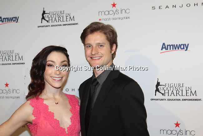 Meryl Davis & Charlie White - The 11th Annual Skating with the Stars Gala - a benefit gala for Figure Skating in Harlem - honoring Meryl Davis & Charlie White (Olympic Ice Dance Champions and Meryl winner on Dancing with the Stars) and presented award by Tamron Hall on April 11, 2016 on Park Avenue in New York City, New York with many Olympic Skaters and Celebrities. (Photo by Sue Coflin/Max Photos)