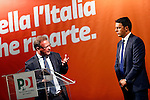 Democratic Party (PD) meeting with Italian Prime Minister, Matteo Renzi and Trento mayor Alessandro Andreatta, in Trento on May 5, 2015.