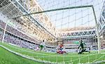 Stockholm 2014-07-20 Fotboll Superettan Hammarby IF - &Ouml;sters IF :  <br /> Hammarbys Kennedy Bakircioglu med en m&aring;lchans framf&ouml;r &Ouml;sters  m&aring;lvakt Alexander Nadj i den andra halvleken<br /> (Foto: Kenta J&ouml;nsson) Nyckelord:  Superettan Tele2 Arena Hammarby HIF Bajen &Ouml;ster &Ouml;IF