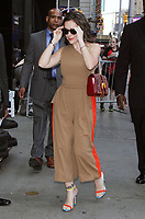 NEW YORK, NY - AUGUST 6: Alyssa Milano seen at Good Morning America in New York City on August 6, 2018. <br /> CAP/MPI/RW<br /> &copy;RW/MPI/Capital Pictures