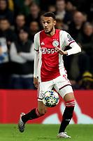 5th November 2019; Stamford Bridge, London, England; UEFA Champions League Football, Chelsea Football Club versus Ajax; Noussair Mazraoui of Ajax - Editorial Use
