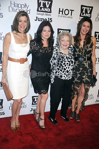 Wendie Malick, Valerie Bertinelli, Betty White and Jane Leeves at the TV Land 'Hot In Cleveland' and 'Happily Divorced' premiere party at Asellina at the Gansevoort on June 13, 2011 in New York City. © mpi01 / MediaPunch Inc.