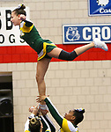 WATERBURY CT. 16 February 2018-021619SV14-Holy Cross High competes in the NVL Cheerleading Championship at Crosby High School in Waterbury Saturday.<br /> Steven Valenti Republican-American
