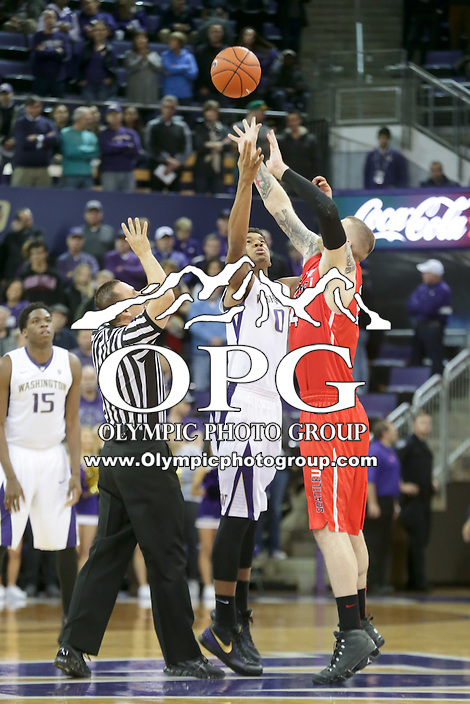 DEC 22, 2015:  Seattle University's Manroop Clair against Washington. Washington defeated Seattle University 79-68 at Alaska Airlines Arena in Seattle, WA.