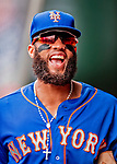 22 September 2018: New York Mets shortstop Amed Rosario walks the dugout prior to a game against the Washington Nationals at Nationals Park in Washington, DC. The Nationals shut out the Mets 6-0 in the 3rd game of their 4-game series. Mandatory Credit: Ed Wolfstein Photo *** RAW (NEF) Image File Available ***