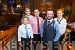 Staff from the Manor West Hotel which is celebrating its 10th anniversary. Pictured were: Eileen Kerin, Rachael Collins, Kornel Jakus, Gerard Aherne and Ilona Szymsaj.
