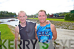 Pictured at the Tralee Tri Grand Prix Triathlon on Saturday morning were front l-r: Eddie Butt and Richard Mulvihill.