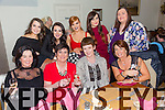Helen O Brien, Francis McCarthy, Bernie  Hurley, Katie Allen, Trisha Quirke, Saidbh Clifford, Vicky O Sullivan, Rachel Lynch and Amy Shalvey who were Celebrating the first anniversary of Brush and Blush hair salon in Bella Bia on Saturday night