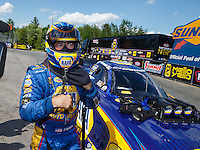 Jun 6, 2016; Epping , NH, USA; NHRA funny car driver Ron Capps during the New England Nationals at New England Dragway. Mandatory Credit: Mark J. Rebilas-USA TODAY Sports