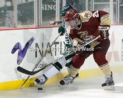 Colin Mulvey (Norwich - 25) - The Norwich University Cadets defeated the Babson College Beavers 4-1 on Friday, January 13, 2011, at Fenway Park in Boston, Massachusetts.