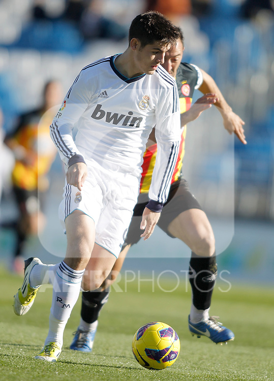 Real Madrid Castilla's Alvaro Morata during La Liga match. January 13, 2013. (ALTERPHOTOS/Alvaro Hernandez)