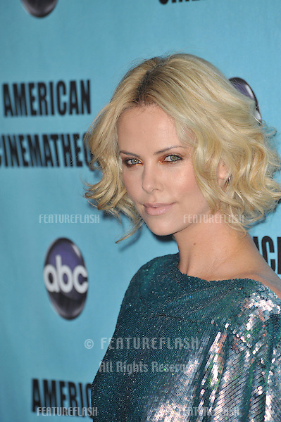 Charlize Theron at the 24th Annual American Cinematheque Award Gala, where Matt Damon was honored, at the Beverly Hilton Hotel..March 27, 2010  Beverly Hills, CA.Picture: Paul Smith / Featureflash