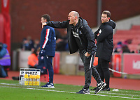 Preston North End's Manager Alex Neil Shouts to his team during the game<br /> <br /> Photographer Dave Howarth/CameraSport<br /> <br /> The EFL Sky Bet Championship - Stoke City v Preston North End - Wednesday 12th February 2020 - bet365 Stadium - Stoke-on-Trent <br /> <br /> World Copyright © 2020 CameraSport. All rights reserved. 43 Linden Ave. Countesthorpe. Leicester. England. LE8 5PG - Tel: +44 (0) 116 277 4147 - admin@camerasport.com - www.camerasport.com