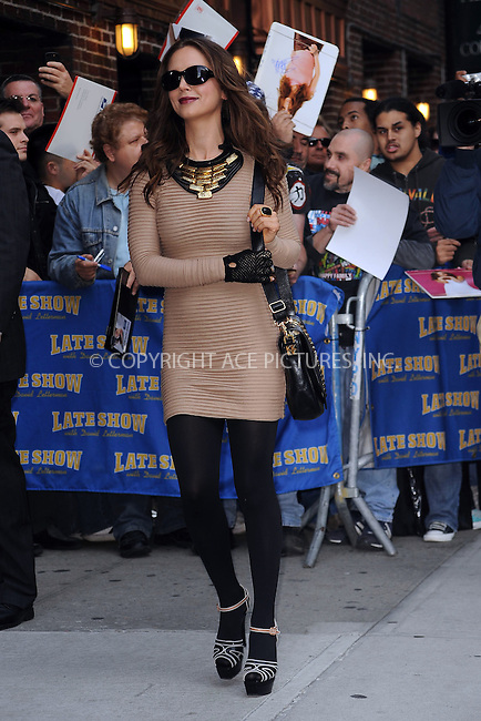 WWW.ACEPIXS.COM . . . . . ....October 6 2009, New York city....Actress Eliza Dushku made an appearance at the 'Late Show with David Letterman' at the Ed Sullivan Theater on October 6, 2009 in New York City.....Please byline: KRISTIN CALLAHAN - ACEPIXS.COM.. . . . . . ..Ace Pictures, Inc:  ..tel: (212) 243 8787 or (646) 769 0430..e-mail: info@acepixs.com..web: http://www.acepixs.com