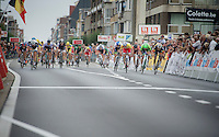 peloton sprint in full 'swing' (with Theo Bos for the win)<br /> <br /> stage 3<br /> Euro Metropole Tour 2014 (former Franco-Belge)
