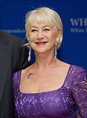 Helen Mirren arrives for the 2016 White House Correspondents Association Annual Dinner at the Washington Hilton Hotel on Saturday, April 30, 2016.<br /> Credit: Ron Sachs / CNP<br /> (RESTRICTION: NO New York or New Jersey Newspapers or newspapers within a 75 mile radius of New York City)