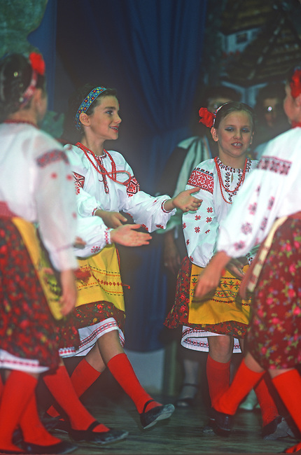 Ukrainian Children Dancing, Saskatoon Folk Festival, Saskatchewan, Canada