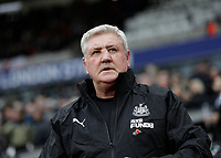 2nd November 2019; London Stadium, London, England; English Premier League Football, West Ham United versus Newcastle United; Newcastle United Manager Steve Bruce  looks on  - Strictly Editorial Use Only. No use with unauthorized audio, video, data, fixture lists, club/league logos or 'live' services. Online in-match use limited to 120 images, no video emulation. No use in betting, games or single club/league/player publications