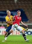 Isabell Herlovsen, Anna Paulson, QF, Sweden-Norway, Women's EURO 2009 in Finland, 09042009, Helsinki Football Stadium.