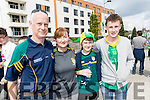 Paul, Ann, Emmett and Gary Cronin, all from Killarney, pictured at the Kerry v Dublin, All-Ireland football semi-final in Croke Park on Sunday.