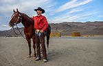 Nick Dowers with his champion horse, Time for the Diamond, at the family-Triple D Ranch in Dyer, Nevada. Nick is the 2013 National Reined Cow Horse Association Snaffle Bit Futurity Open Champion