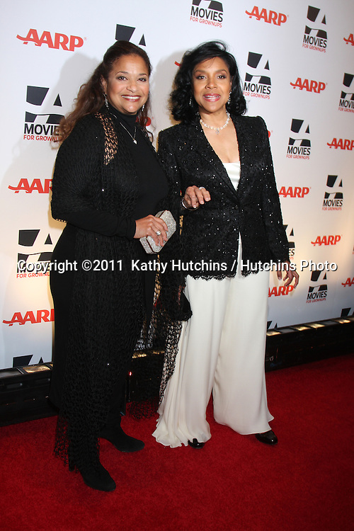 """LOS ANGELES - FEB 7:  Debbie Allen, Phylicia Rashad arrives at the 2011 AARP """"Movies for Grownups"""" Gala  at Regent Beverly Wilshire Hotel on February 7, 2011 in Beverly Hills, CA"""