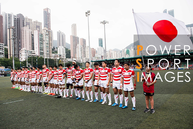Japan Rugby National Team poses for photos during the Asia Rugby Championship 2017 match between Hong Kong and Japan on May 13, 2017 in Hong Kong, China. Photo by Marcio Rodrigo Machado / Power Sport Images