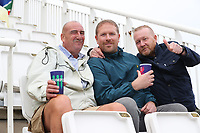 Fans stoic despite the best efforts of the weather during South Africa vs West Indies, ICC World Cup Cricket at the Hampshire Bowl on 10th June 2019