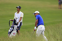Yusaku Miyazato (JPN) chips out of the fescue on the 10th hole during Saturday's Round 3 of the 117th U.S. Open Championship 2017 held at Erin Hills, Erin, Wisconsin, USA. 17th June 2017.<br /> Picture: Eoin Clarke | Golffile<br /> <br /> <br /> All photos usage must carry mandatory copyright credit (&copy; Golffile | Eoin Clarke)