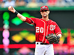 15 August 2010: Washington Nationals infielder Adam Kennedy in action against the Arizona Diamondbacks at Nationals Park in Washington, DC. The Nationals defeated the Diamondbacks 5-3 to take the rubber match of their 3-game series. Mandatory Credit: Ed Wolfstein Photo