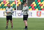 FK Trakai v St Johnstone&hellip;05.07.17&hellip; Europa League 1st Qualifying Round 2nd Leg<br />St Johnstone training at the LFF Stadium in Vilnius, Lithuania&hellip;.Pictured Manager Tommy Wright during the training session with Callum Davidson<br />Picture by Graeme Hart.<br />Copyright Perthshire Picture Agency<br />Tel: 01738 623350  Mobile: 07990 594431