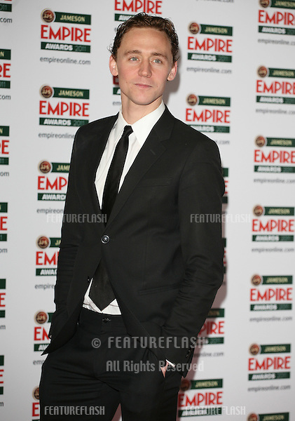 Tom Hiddleston arriving for the Jameson Empire Awards 2011, Grosvenor House Hotel, London. 27/03/2011  Picture by: Alexandra Glen / Featureflash