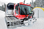 Back country, snowcat powder skiing at Grand Targhee, Wyoming